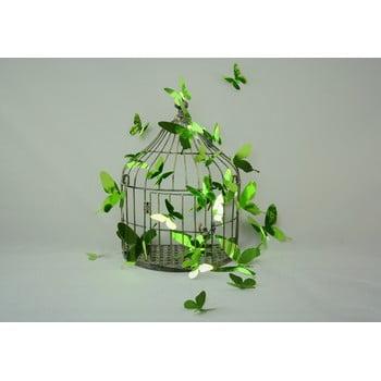 Set de 12 autocolante cu efect 3D Ambiance Butterflies Green poza bonami.ro