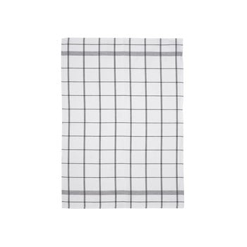 Prosop din bumbac pentru bucătărie Södahl Geometric, alb - gri, 50x70cm bonami.ro