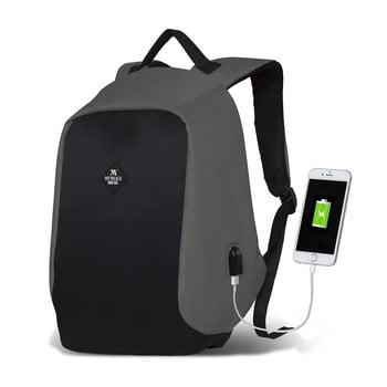Rucsac cu port USB My Valice SECRET Smart Bag, negru-gri bonami.ro