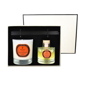 Set cadou lumânări și difuzor Parks Candles London Aromatherapy, aromă de portocală și cuișoare poza bonami.ro