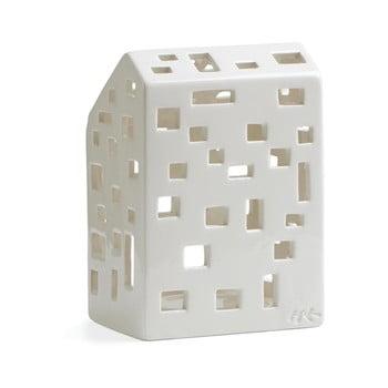 Sfeșnic din ceramică Kähler Design Urbania Lighthouse Funkis, alb bonami.ro