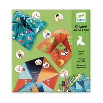 Set hârtii origami cu autocolante Djeco Fortune bonami.ro