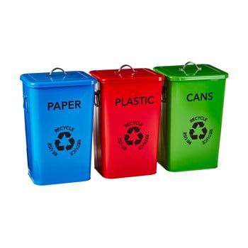 Set 3 coșuri pentru reciclare Premier Housewares Recycle Bins bonami.ro
