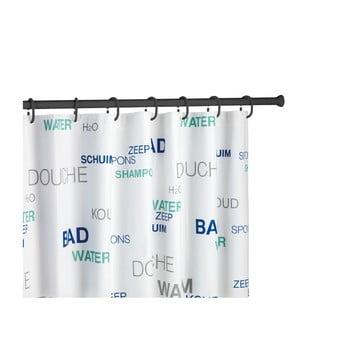 Bară/tijă telescopică pentru perdeaua de duș Wenko Shower Curtain Rod, negru poza bonami.ro