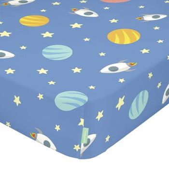 Cearșaf din bumbac pentru copii Happynois Astronaut, 120 x 60 cm bonami.ro