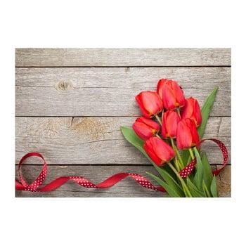 Covoraș din vinilin Tulips,52x75cm bonami.ro