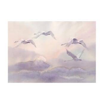 Tapet format mare Bimago Flying Swans, 400 x 280 cm imagine