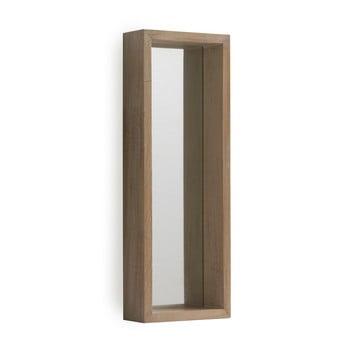 Oglinda cu rama de perete din lemn paulownia Geese Pure, 62 x 22 cm