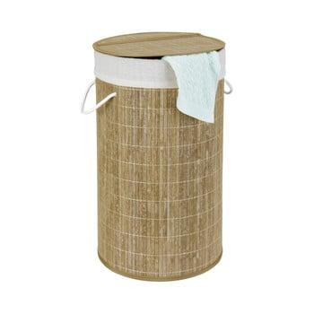 Cos din bambus pentru rufe Wenko Bina, 55 l