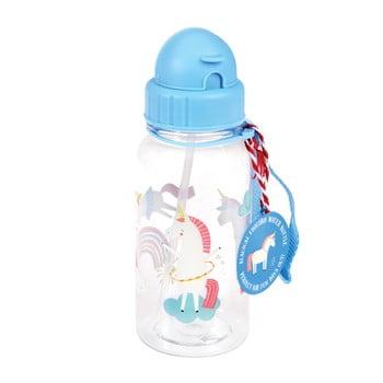 Sticlă pentru apă Rex London Magical Unicorn, albastru poza bonami.ro