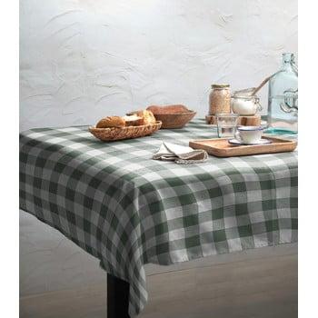 Față de masă Linen Couture Mantel Green Vichy, 140 x 140 cm poza bonami.ro