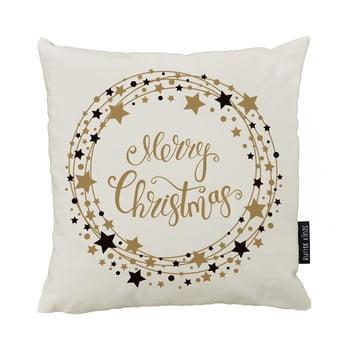 Pernă cu husă din bumbac Crăciun Butter Kings Stars Wreath, 45x45 cm bonami.ro