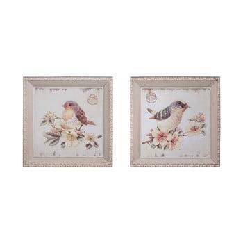 Set 2 tablouri Antic Line Oiseaux,27x27cm bonami.ro