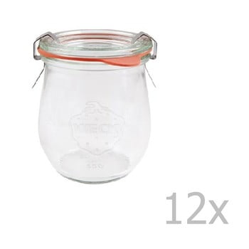 Set 12 borcane cu capac ermetic Weck Tulpe, 220 ml poza bonami.ro