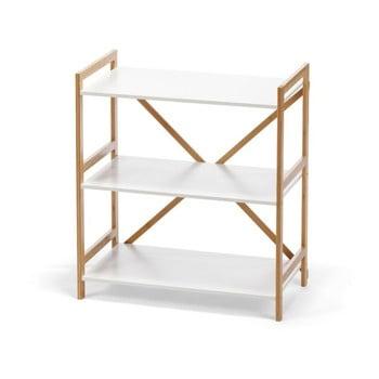 Etajeră cu structură din bambus pe 3 nivele loomi.design Lora, alb bonami.ro