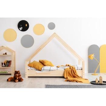 Pat tip căsuță din lemn de pin pentru copii Adeko Loca Ana,70x140cm