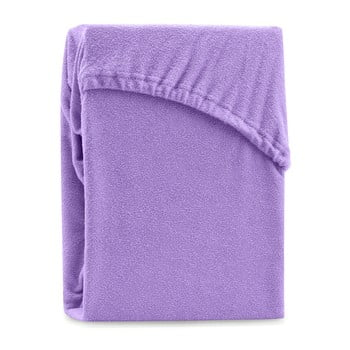 Cearșaf elastic pentru pat dublu AmeliaHome Ruby Siesta, 180-200 x 200 cm, violet bonami.ro