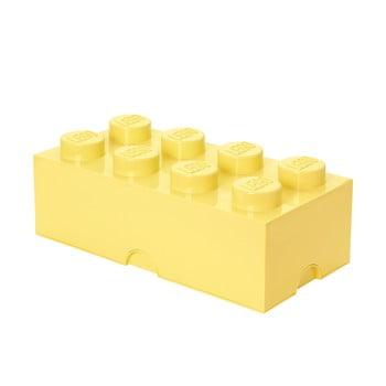 Cutie depozitare LEGO®, galben deschis poza bonami.ro