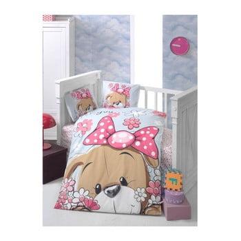 Lenjerie de pat cu cearșaf pentru copii Sevimli, 100 x 150 cm poza bonami.ro