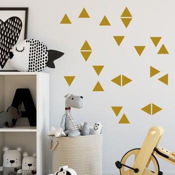 Set autocolante de perete North Carolina Scandinavian Home Decors Triangle, auriu bonami.ro