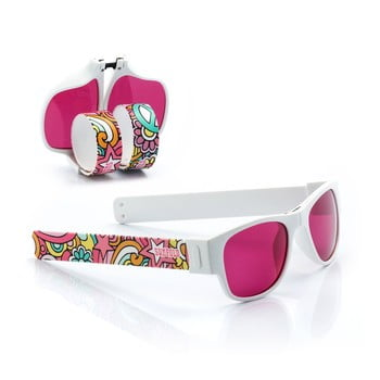 Ochelari de soare pliabili InnovaGoods Sunfold TR4, roz - alb poza bonami.ro