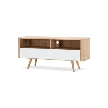 Comodă TV din lemn de stejar Gazzda Ena Three, 135 x 42 x 60 cm poza bonami.ro