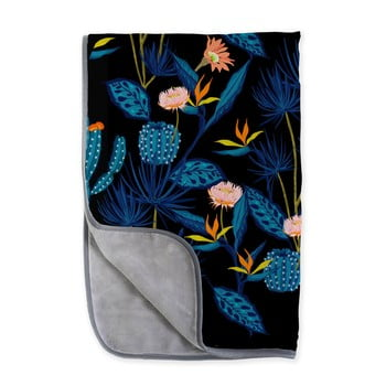 Pătură reversibilă din microfibră Surdic Cactussino, 130 x 170 cm bonami.ro