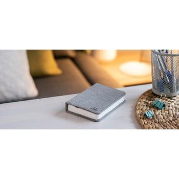 Veioză de birou cu LED Ginko Booklight Mini, formă de carte, gri bonami.ro