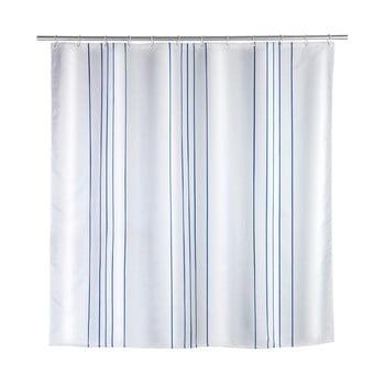 Perdea de duș Wenko Line Blue, 180 x 200 cm bonami.ro