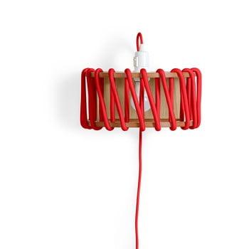 Aplică din lemn EMKO Macaron, lungime 30 cm, roșu imagine