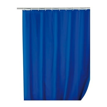 Perdea de duș Wenko Simplera, 180 x 200 cm, albastru poza bonami.ro