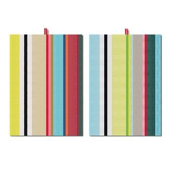 Set 2 prosoape Remember Green Stripes, 70x50cm bonami.ro
