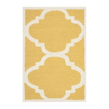 Covor de lână Safavieh Clark, 60 x 91 cm, galben bonami.ro