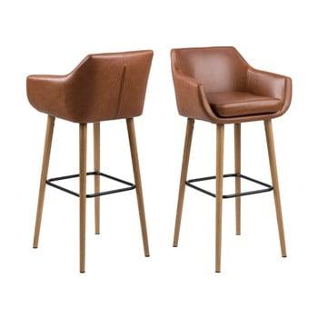 Set 2 scaune pentru bar Actona Nora, maro imagine