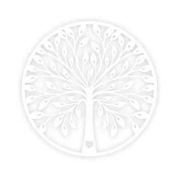 Decorațiune de perete Tree, alb poza bonami.ro