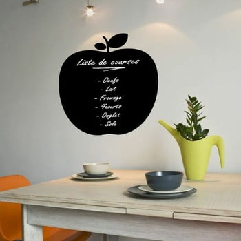 Autocolant tip tablă cu cretă lichidă Ambiance Apple Blackboard bonami.ro