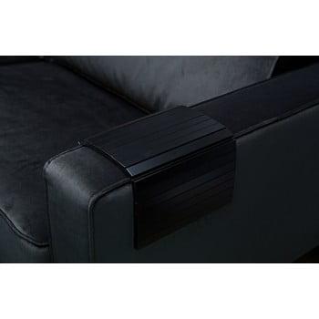 Cotieră flexibilă din lemn pentru canapea WOOOD Tray, negru bonami.ro