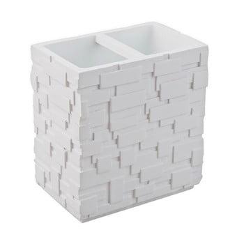 Pahar pentru periuțe de dinți Tomasucci Wall, alb bonami.ro