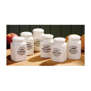 Set 6 recipiente pentru condimente Premier Housewares Vintage Home, crem bonami.ro