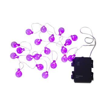 Șirag luminos LED pentru exterior Best Season Bulb, 20 becuri, roz bonami.ro