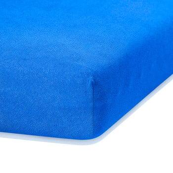 Cearceaf elastic AmeliaHome Ruby, 200 x 120-140 cm, albastru bonami.ro