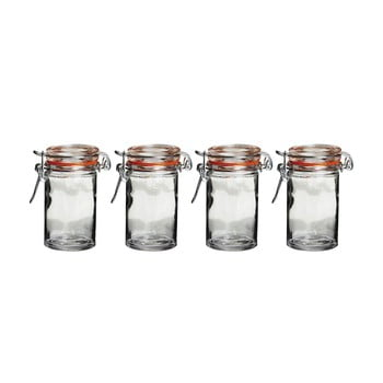 Set 4 borcane din sticlă cu capac Premier Housewares poza bonami.ro