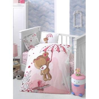 Lenjerie de pat pentru copii cu cearșaf și 2 fețe de pernă Ton Ton, 100 x 150 cm poza bonami.ro