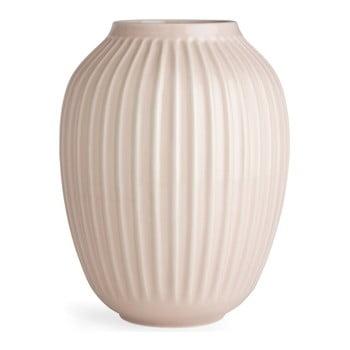 Vază din gresie Kähler Design Hammershoi, roz, înălțime 25 cm poza bonami.ro