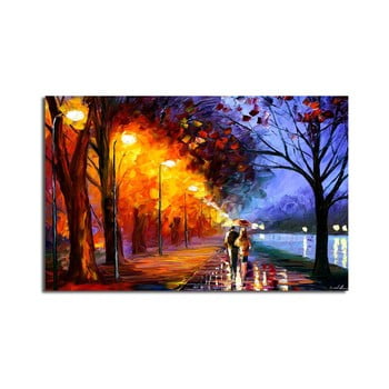 Tablou pe pânză Fall Walk, 70 x 45 cm bonami.ro