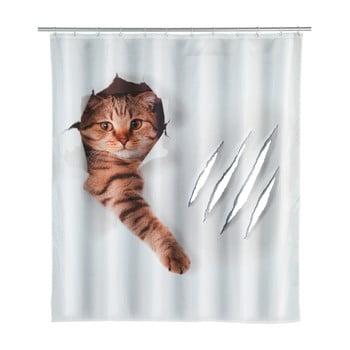 Perdea duș Wenko Cat, 180x200cm poza bonami.ro