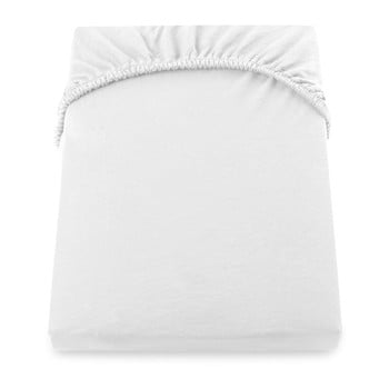Cearșaf de pat cu elastic DecoKing Nephrite, 220–240 cm, alb bonami.ro