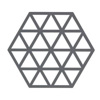 Suport din silicon pentru vase fierbinți Zone Triangles, gri poza bonami.ro