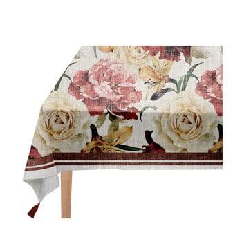 Față de masă Linen Couture Roses, 140 x 200 cm bonami.ro