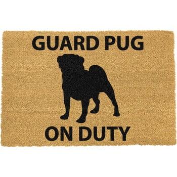 Covoraș intrare din fibre de cocos Artsy Doormats Guard Pug, 40 x 60 cm bonami.ro